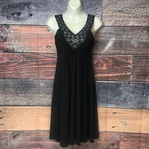 """Soprano Embellished V-Neck  """"Little Black Dress"""""""